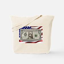 Pitbull BULLY Dog USA Bill Tote Bag
