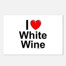 White Wine Postcards (Package of 8)