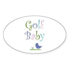 Golf Baby - Oval Decal