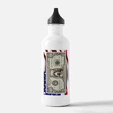 Pit Bull Flag USA million bill Water Bottle