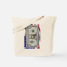 Pit Bull Flag USA million bill Tote Bag