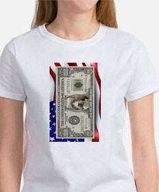 Pit Bull Flag USA million bill T-Shirt