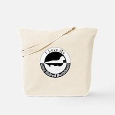Dachshund on human Tote Bag