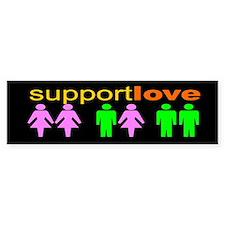 SUPPORT LOVE Bumper Bumper Stickers