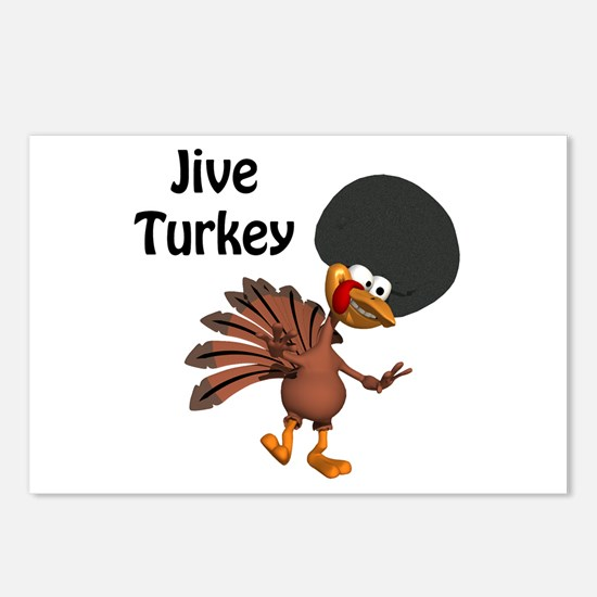 Funny Afro Jive Turkey Postcards (Package of 8)
