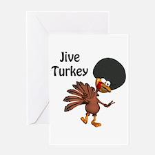 Funny Afro Jive Turkey Greeting Card