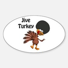 Funny Afro Jive Turkey Oval Decal