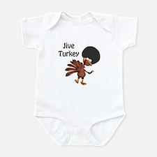 Funny Afro Jive Turkey Infant Bodysuit