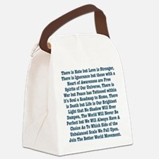 The Unbalanced Scale Canvas Lunch Bag