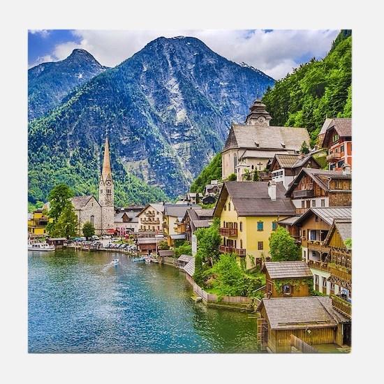 Austria Hallstatt Tile Coaster