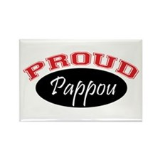 Proud Pappou (red and black) Rectangle Magnet