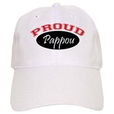 Proud Pappou (red and black) Baseball Cap