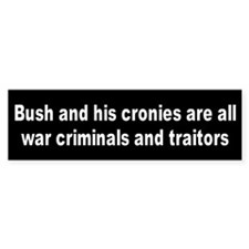 WAR CRIMES Bumper Bumper Sticker