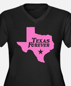 Texas Forever (Pink - Cutout Ltrs) Plus Size T-Shi