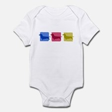Color Row Dachshund Baby Bodysuit