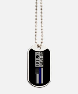 Police: Future Police Officer (Black Flag Dog Tags