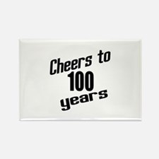 Cheers To 100 Years Birthday Rectangle Magnet