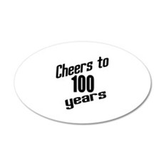Cheers To 100 Years Birthday Wall Decal