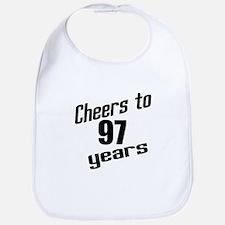 Cheers To 97 Years Birthday Bib