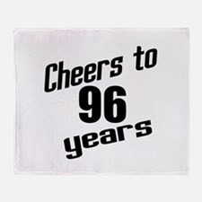 Cheers To 96 Years Birthday Throw Blanket