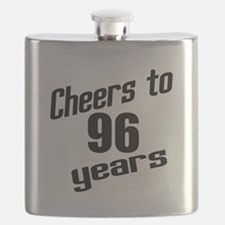 Cheers To 96 Years Birthday Flask