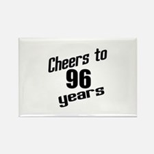 Cheers To 96 Years Birthday Rectangle Magnet