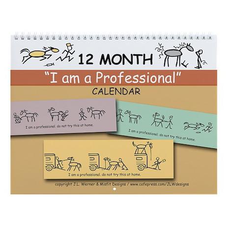 I am a Professional: 12-month Wall Calendar