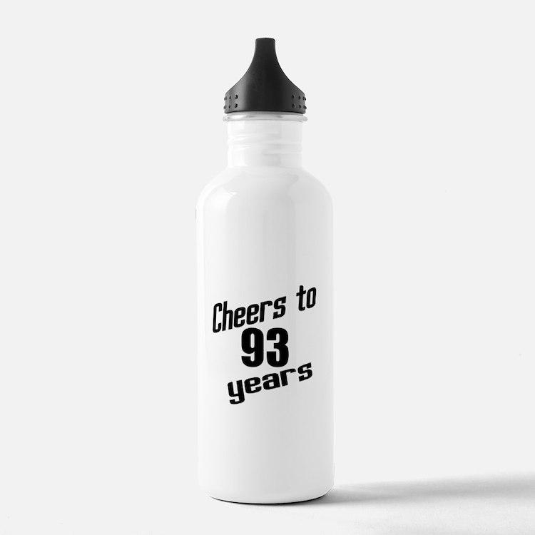 Cheers To 93 Years Bir Water Bottle