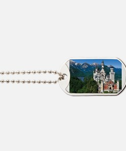 Cute Neuschwanstein castle Dog Tags