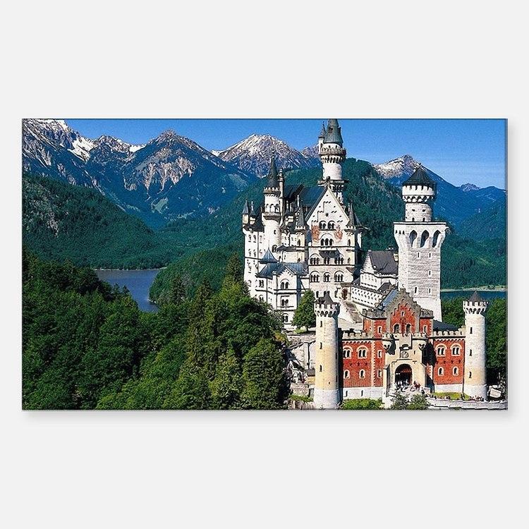 Cute Castle germany Sticker (Rectangle)