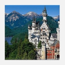 Neuschwanstein Castle Bavaria Germany Tile Coaster