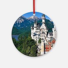 Neuschwanstein Castle Bavaria Germa Round Ornament