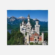 Neuschwanstein Castle Bavaria German Throw Blanket