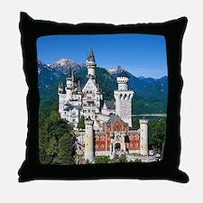 Neuschwanstein Castle Bavaria Germany Throw Pillow