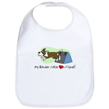 Brown Border Collie Flyball Bib