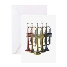 Trumpets Multi Greeting Card