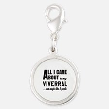 All I care about is my Viverra Silver Round Charm