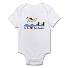 Cartoon Dock Jumping Infant Bodysuit