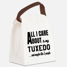 All I care about is my Tuxedo Canvas Lunch Bag