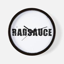 Rad Sauce Distress Wall Clock