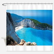 Navagio Zakynthos Greece Shower Curtain