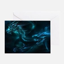Cool Blue dragons Greeting Card