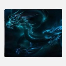 Blue Dragon Throw Blanket