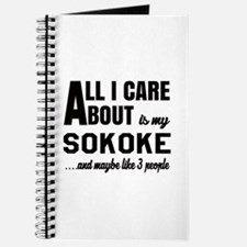 All I care about is my Sokoke Journal