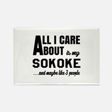 All I care about is my Sokoke Rectangle Magnet