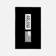 Black & White U.S. Flag: Arizona Area Rug