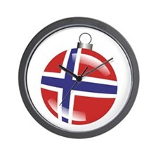 Norway Christmas Ornament graphic Wall Clock