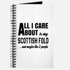 All I care about is my Scottish Fold Journal