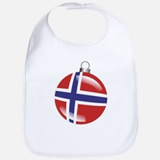 Norway Christmas Ornament graphic Bib