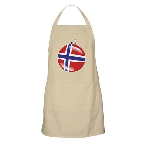 Norway Christmas Ornament graphic BBQ Apron